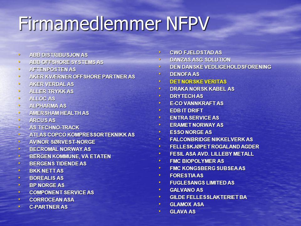 Firmamedlemmer NFPV CWO FJELDSTAD AS ABB DISTRIBUSJON AS