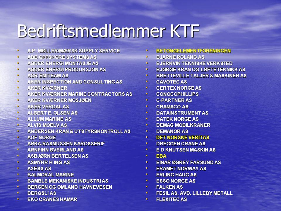 Bedriftsmedlemmer KTF