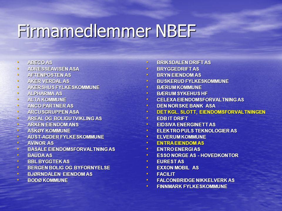 Firmamedlemmer NBEF ABECO AS ADRESSEAVISEN ASA AFTENPOSTEN AS