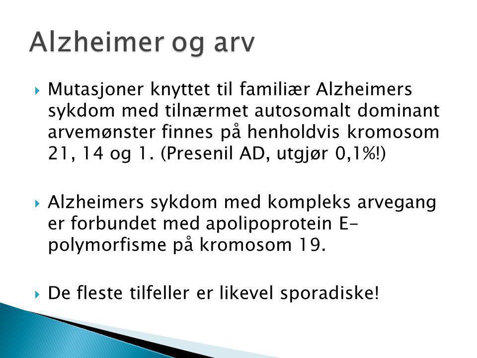 Alzheimer og arv