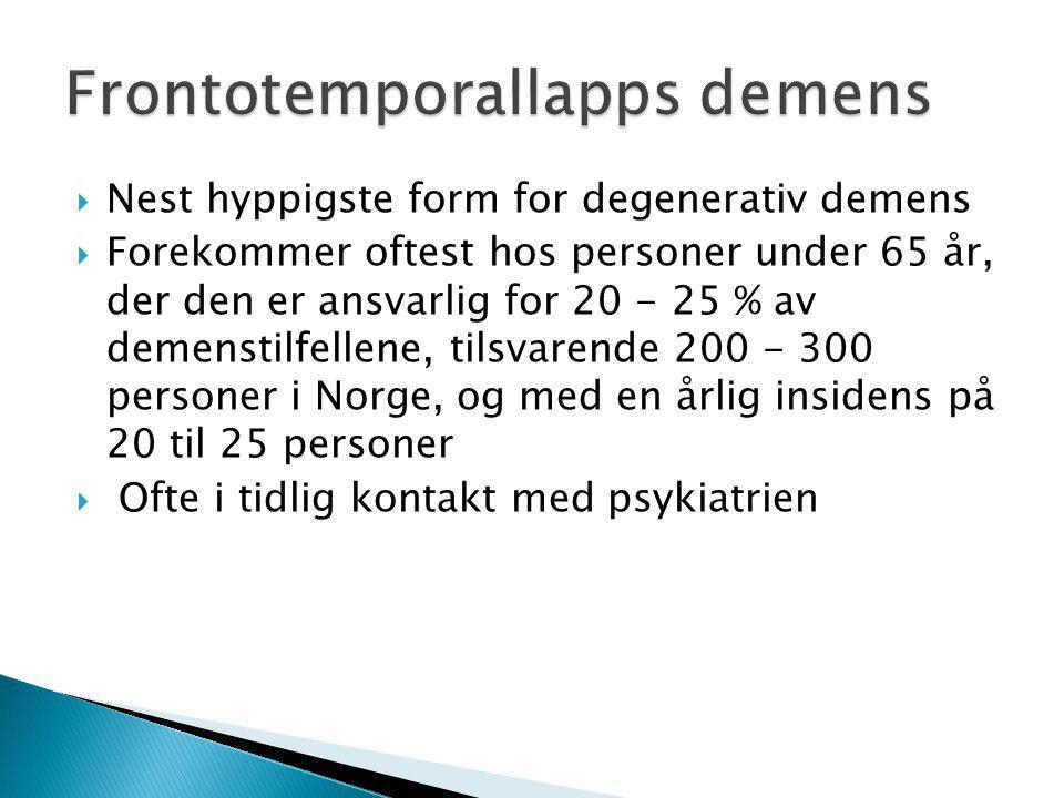 Frontotemporallapps demens