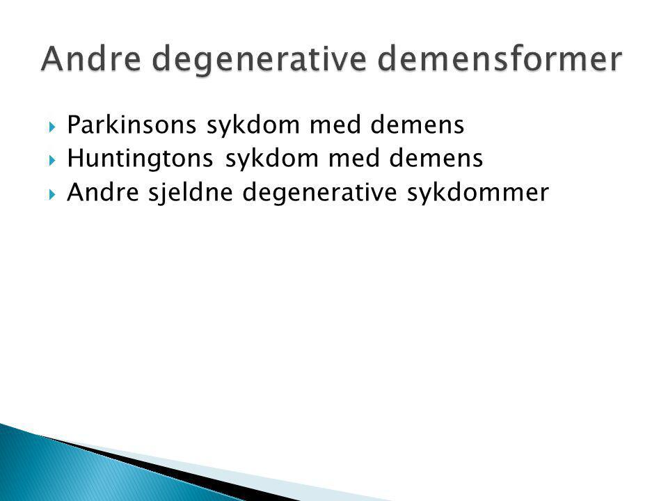 Andre degenerative demensformer