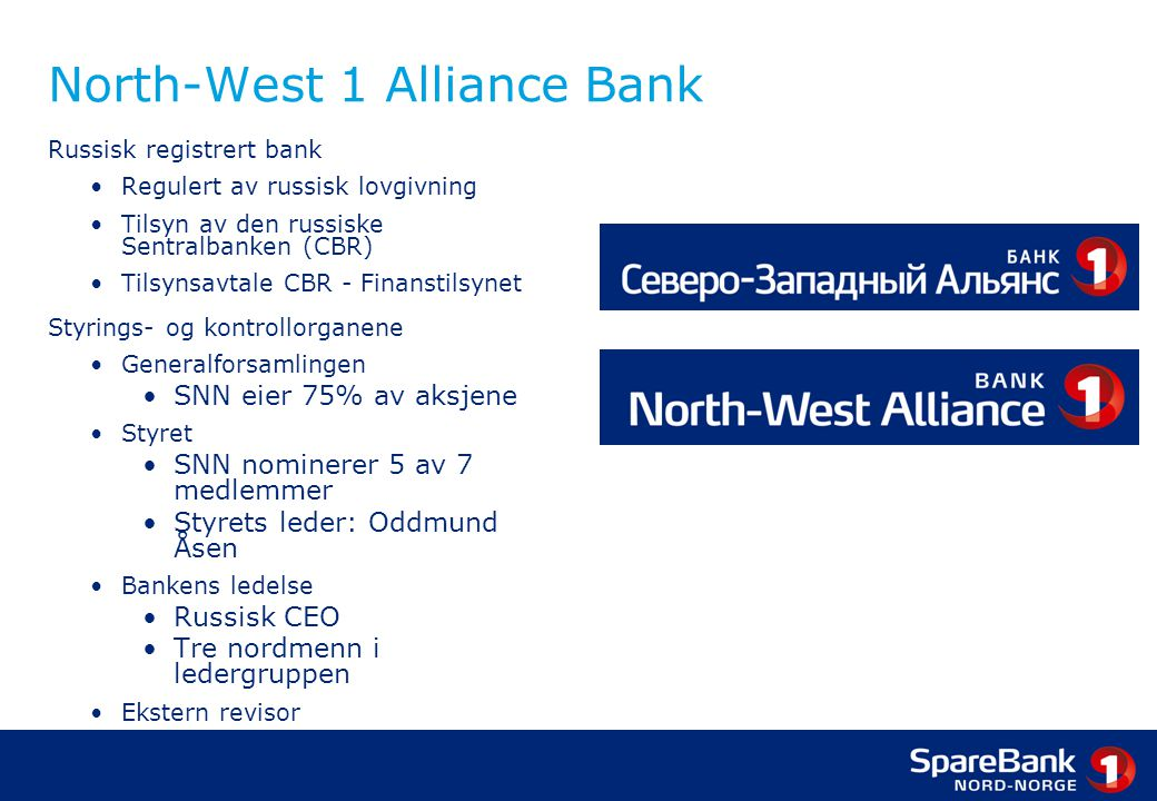 North-West 1 Alliance Bank