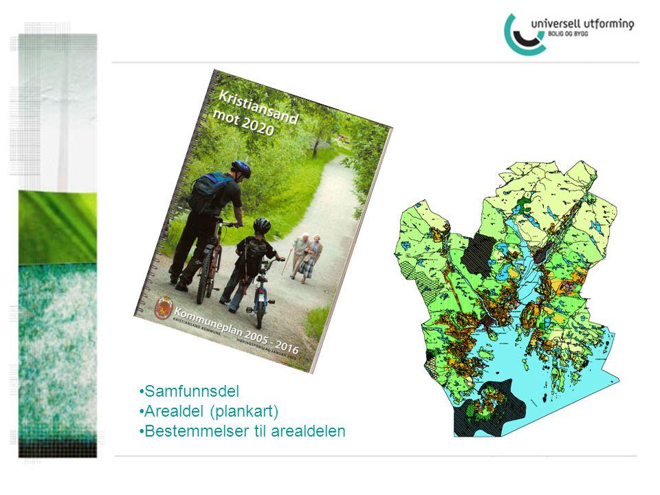 Samfunnsdel Arealdel (plankart) Bestemmelser til arealdelen