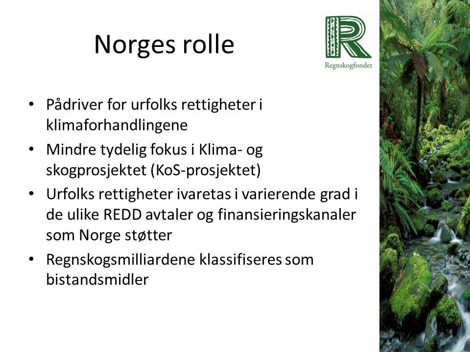 Norges rolle Pådriver for urfolks rettigheter i klimaforhandlingene