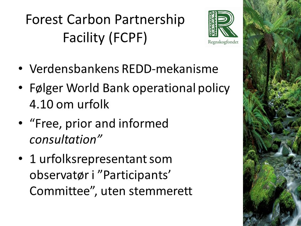 Forest Carbon Partnership Facility (FCPF)