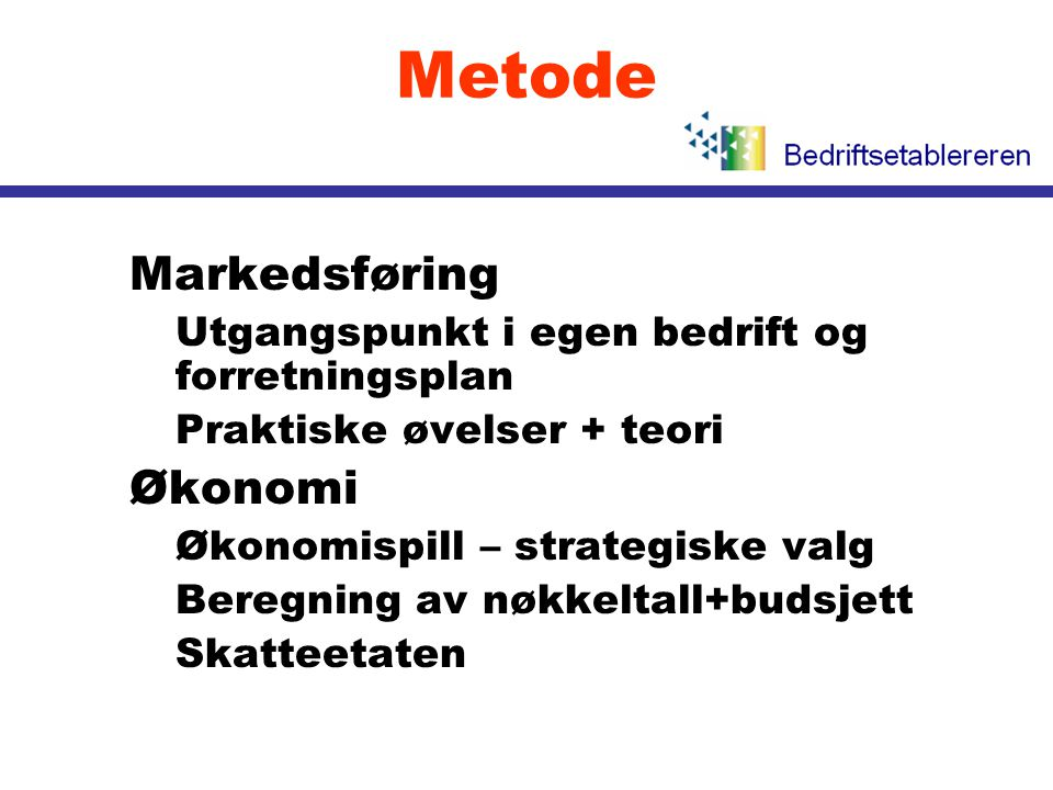 Metode Markedsføring Økonomi