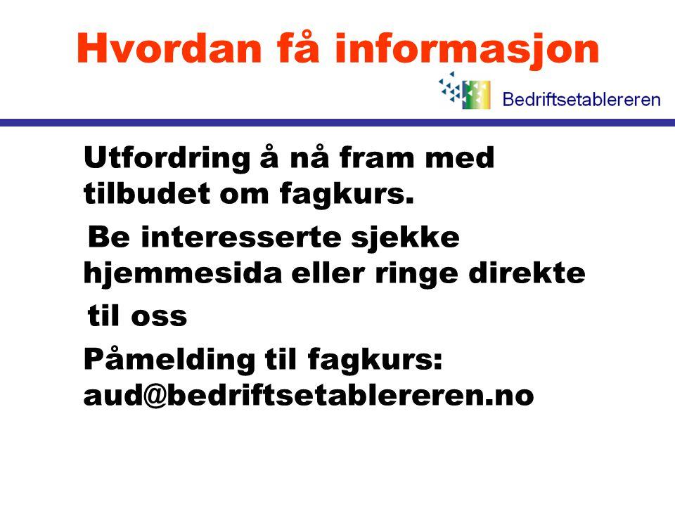 Hvordan få informasjon