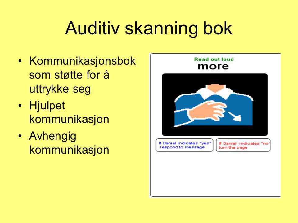 Auditiv skanning bok Kommunikasjonsbok som støtte for å uttrykke seg