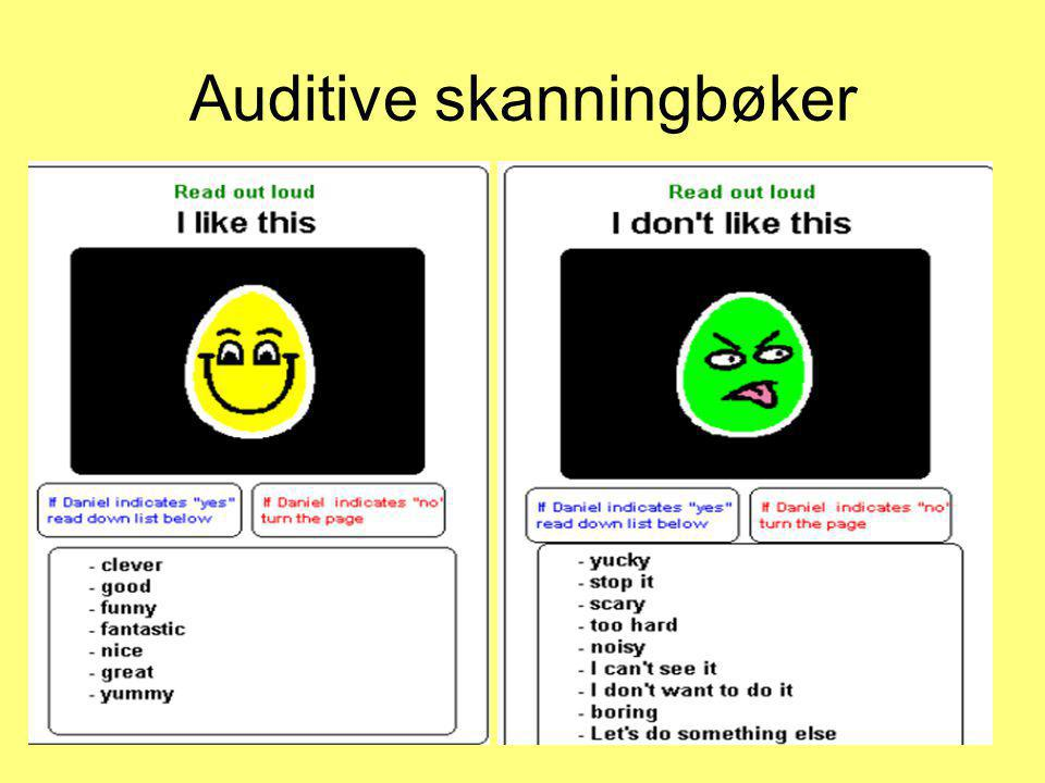 Auditive skanningbøker