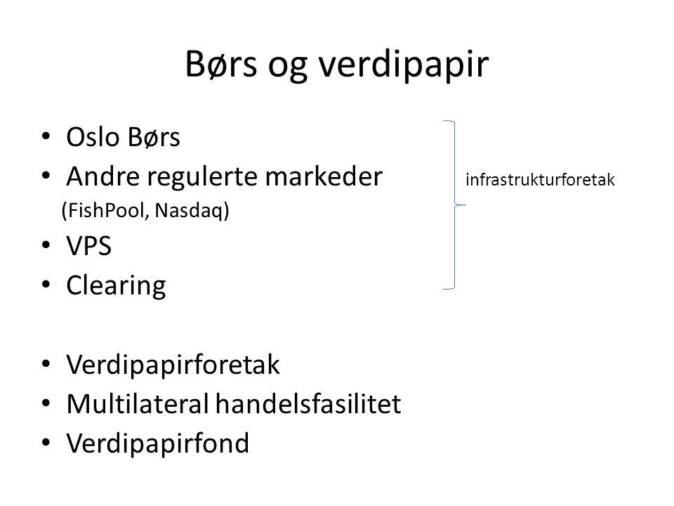 Børs og verdipapir Oslo Børs