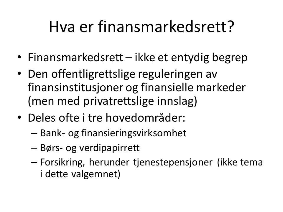 Hva er finansmarkedsrett