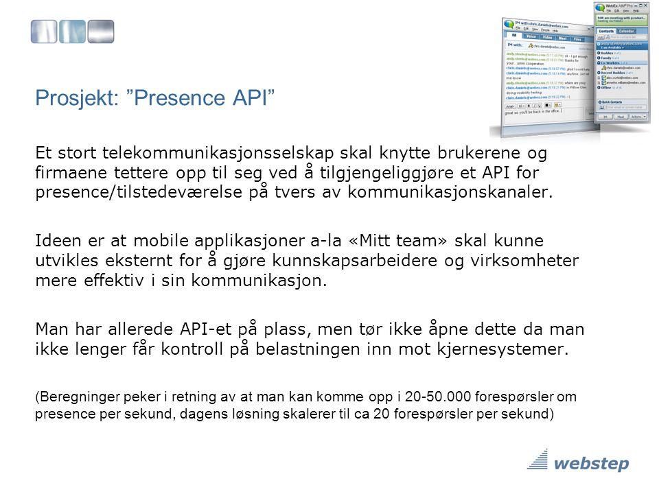 Prosjekt: Presence API