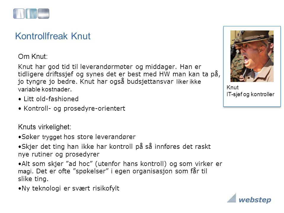 Kontrollfreak Knut Om Knut: Knuts virkelighet: