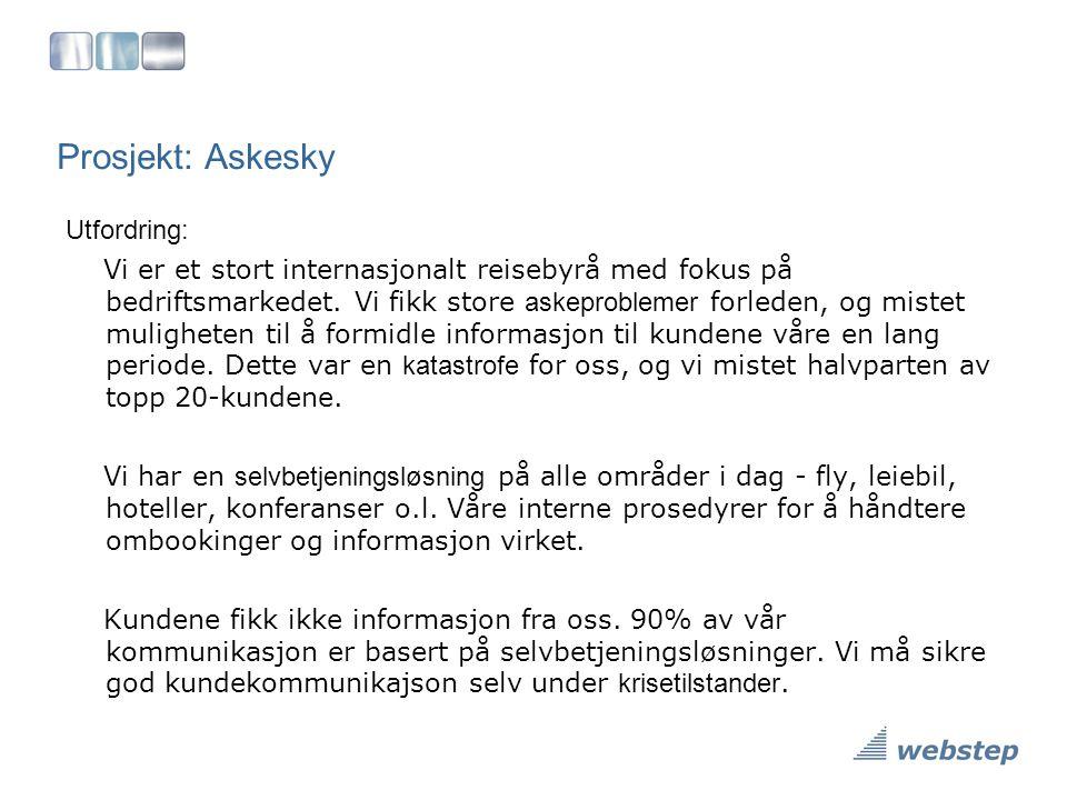Prosjekt: Askesky Utfordring: