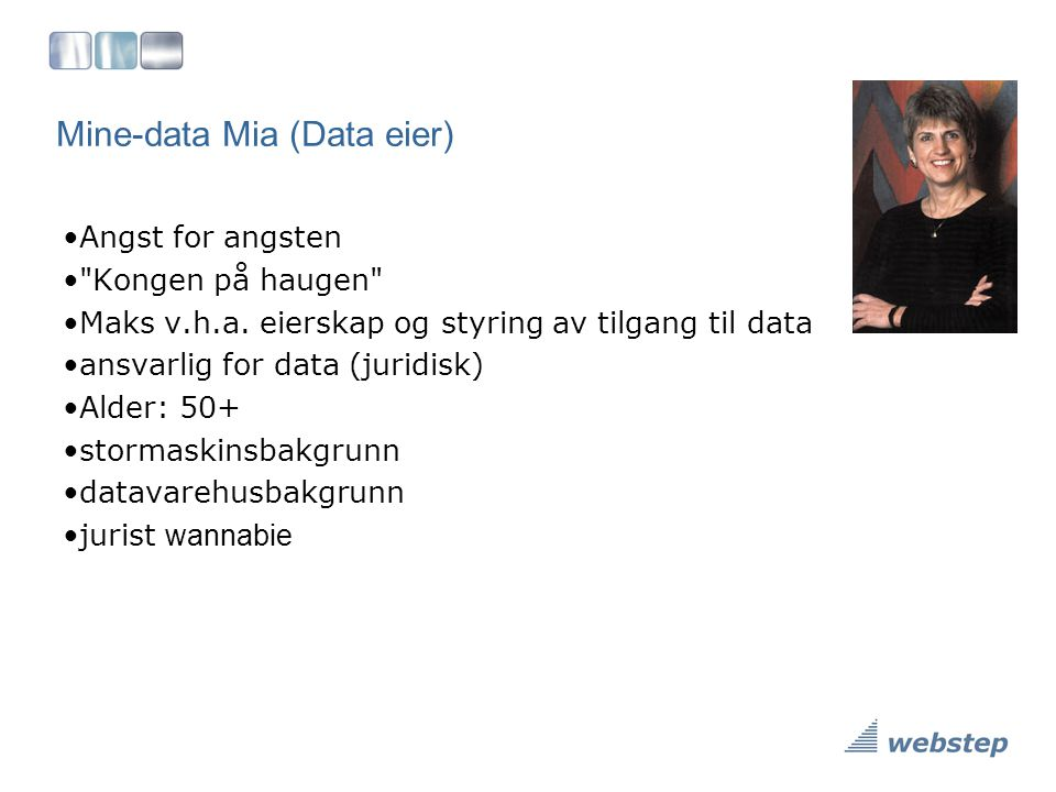 Mine-data Mia (Data eier)