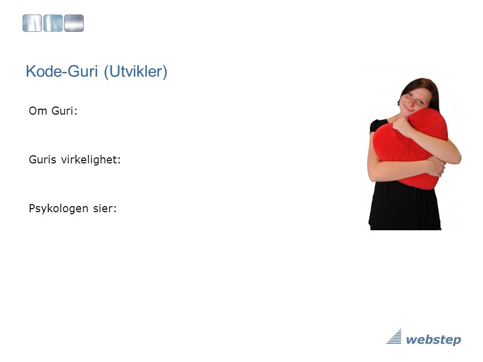 Kode-Guri (Utvikler) Om Guri: Guris virkelighet: Psykologen sier:
