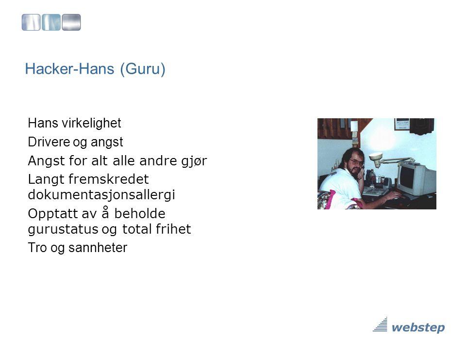 Hacker-Hans (Guru) Hans virkelighet Drivere og angst