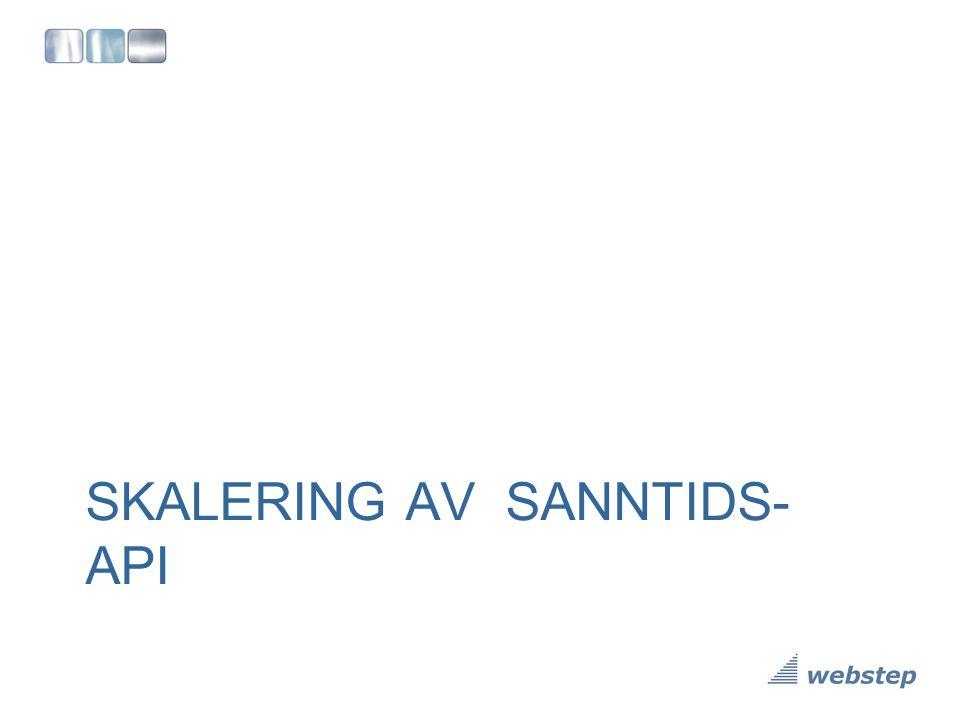 SKALERING AV SANNTIDS-API