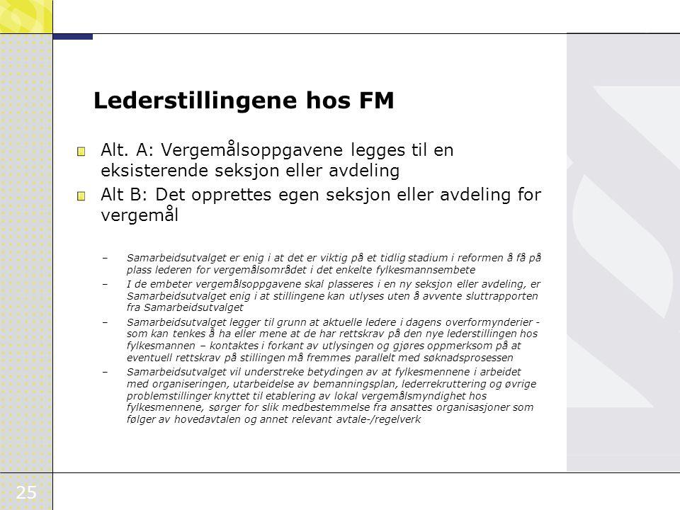 Lederstillingene hos FM