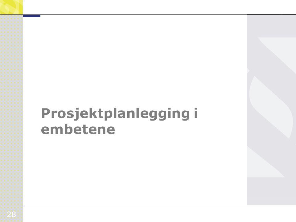 Prosjektplanlegging i embetene