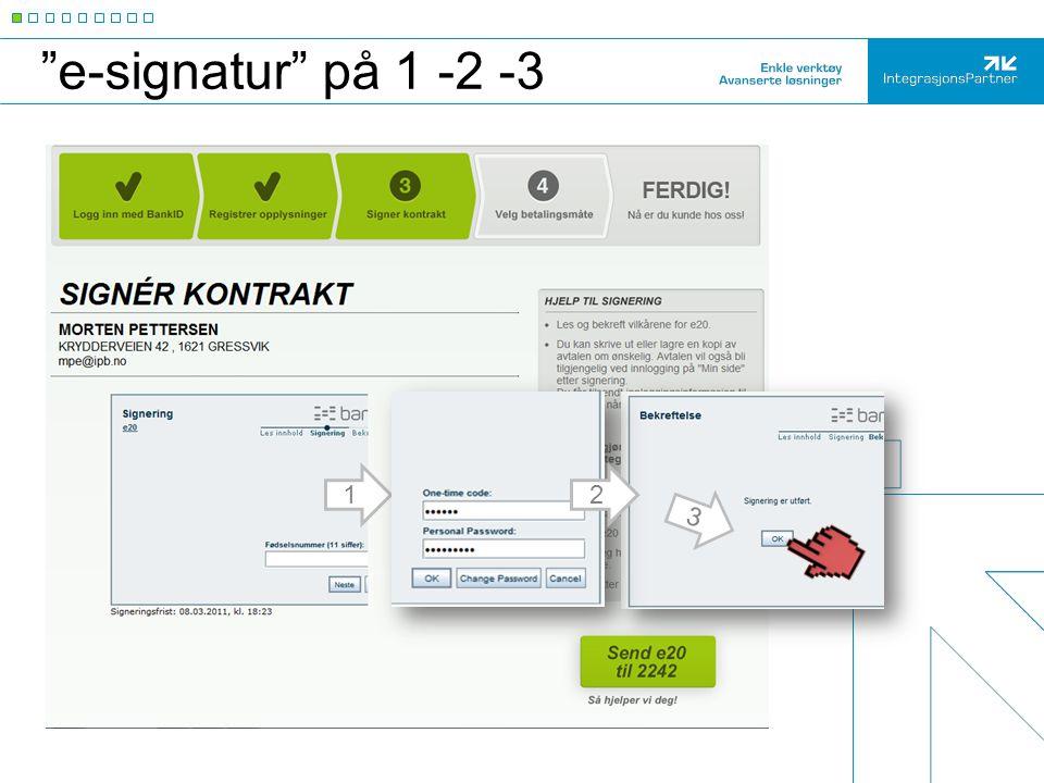 e-signatur på 1 -2 -3 2 3 1