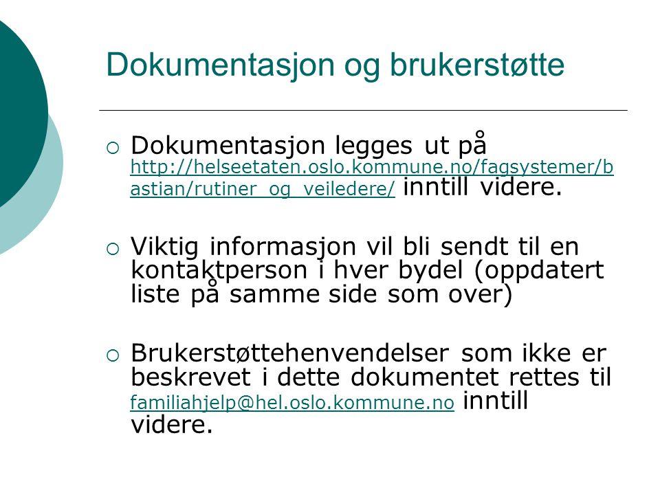 Dokumentasjon og brukerstøtte