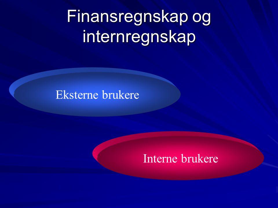 Finansregnskap og internregnskap