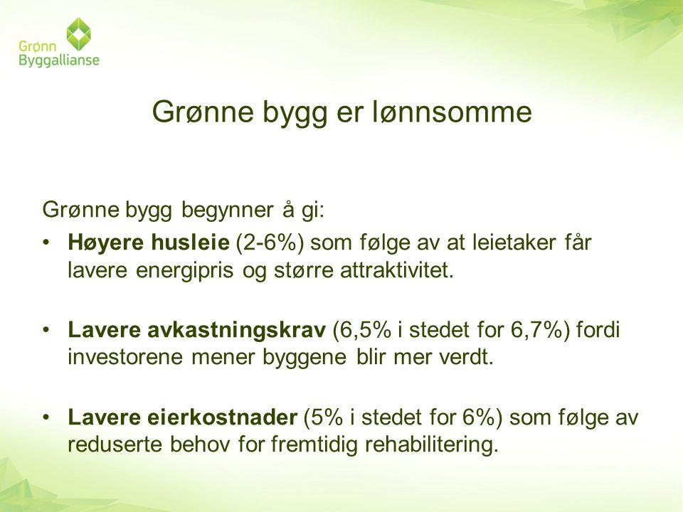 Grønne bygg er lønnsomme