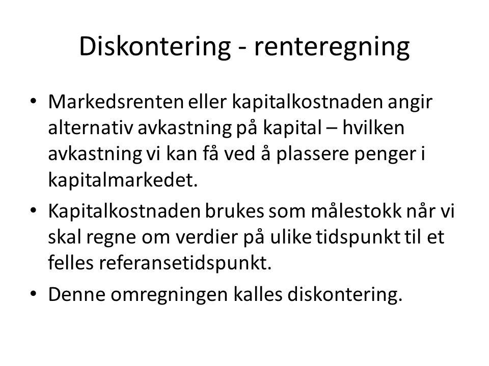 Diskontering - renteregning