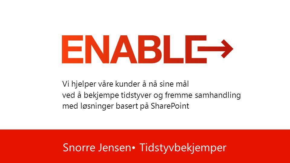 Snorre Jensen• Tidstyvbekjemper