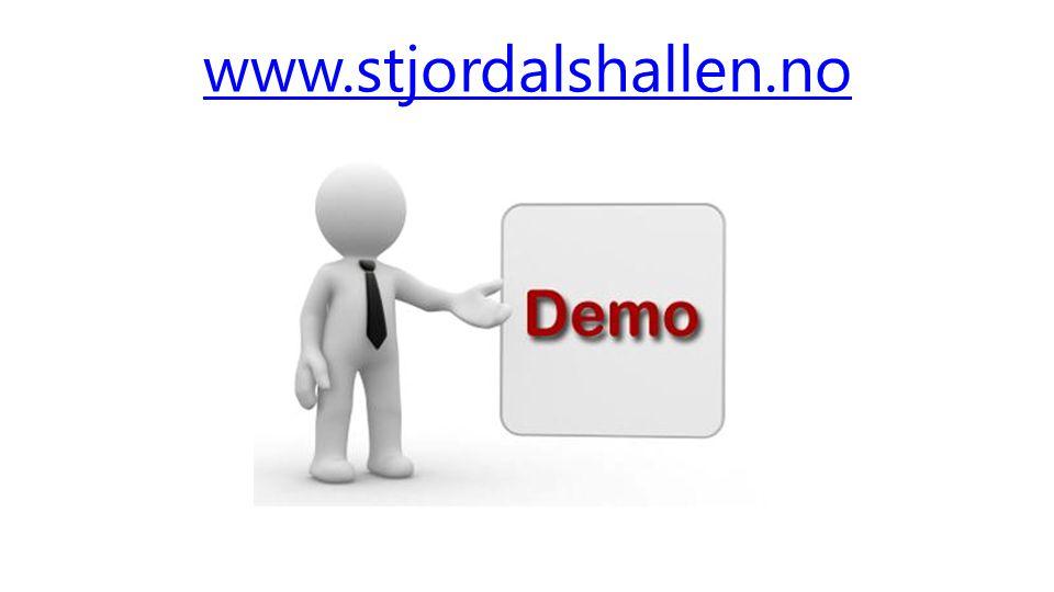 www.stjordalshallen.no Vise Stjørdalshallen, Booking funksjonen, Forklare ressursene.