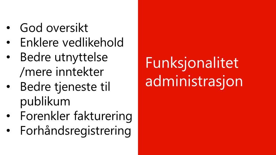 Funksjonalitet administrasjon