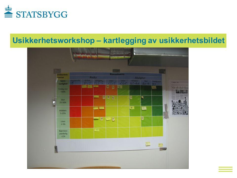 Usikkerhetsworkshop – kartlegging av usikkerhetsbildet