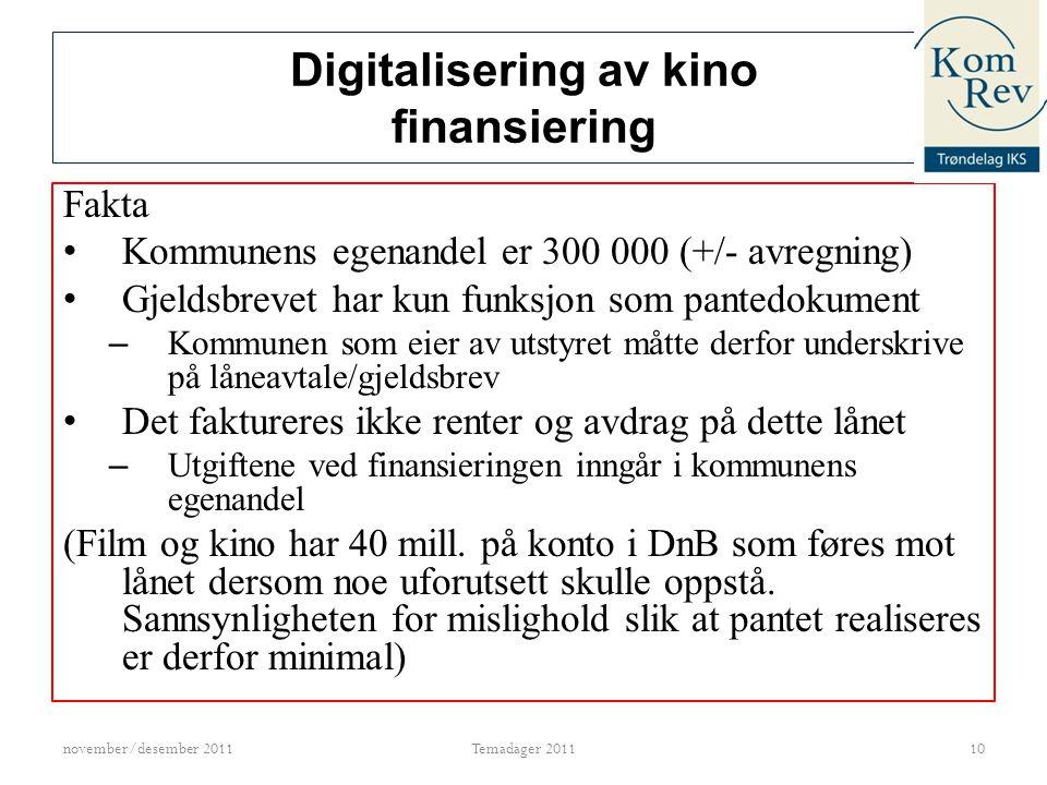 Digitalisering av kino finansiering