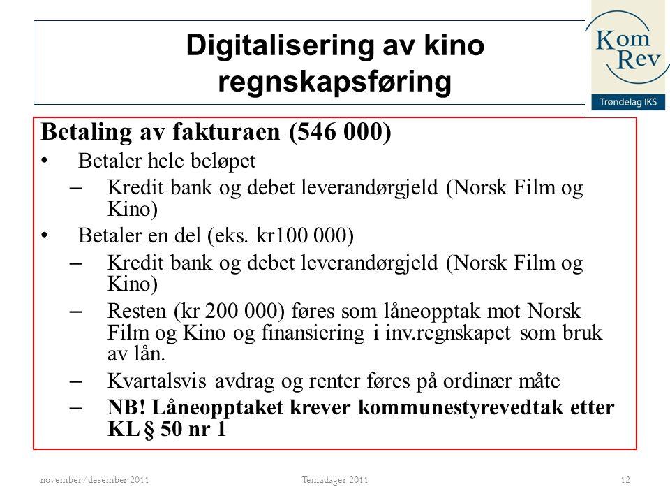 Digitalisering av kino regnskapsføring