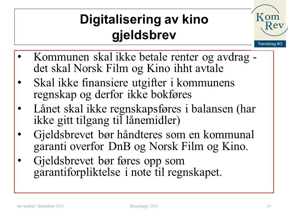 Digitalisering av kino gjeldsbrev