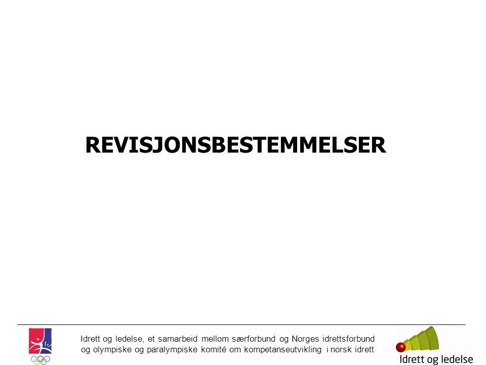 REVISJONSBESTEMMELSER