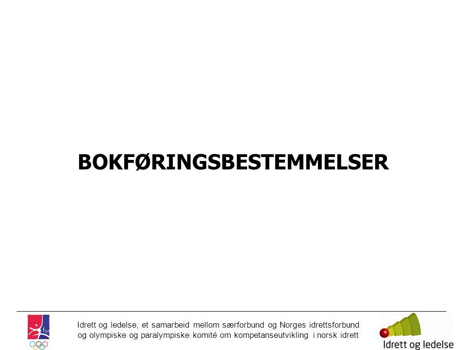 BOKFØRINGSBESTEMMELSER