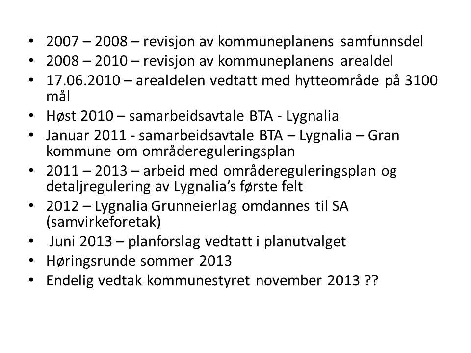 2007 – 2008 – revisjon av kommuneplanens samfunnsdel