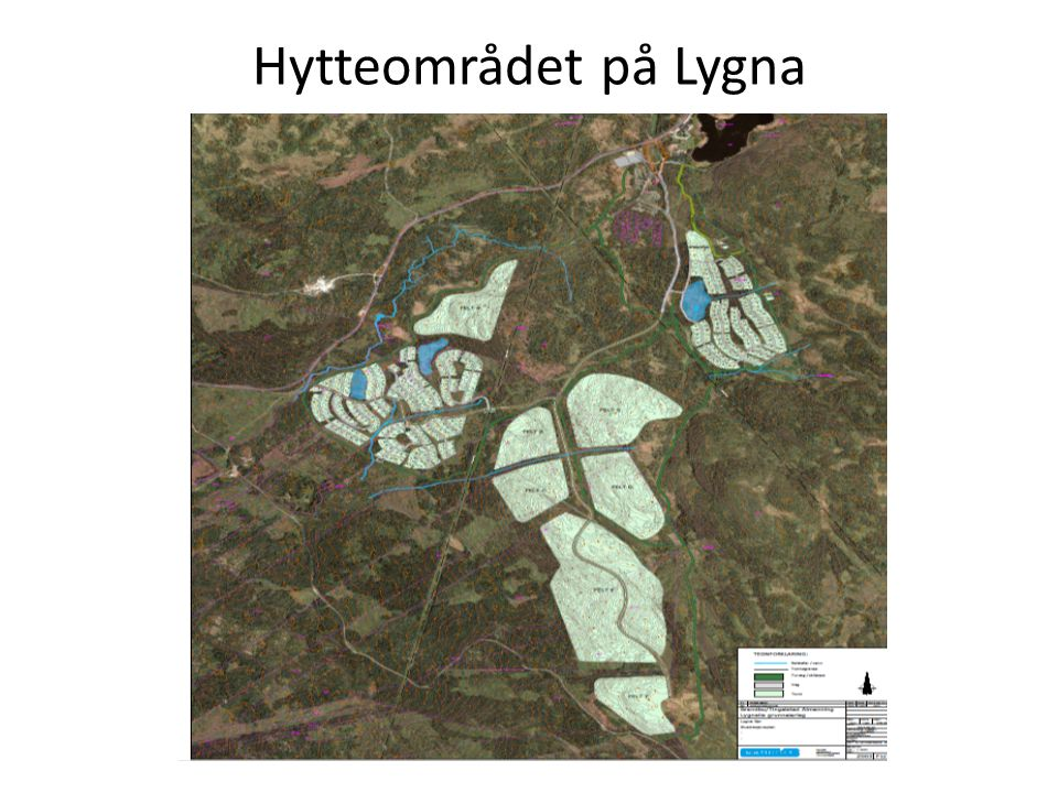 Hytteområdet på Lygna