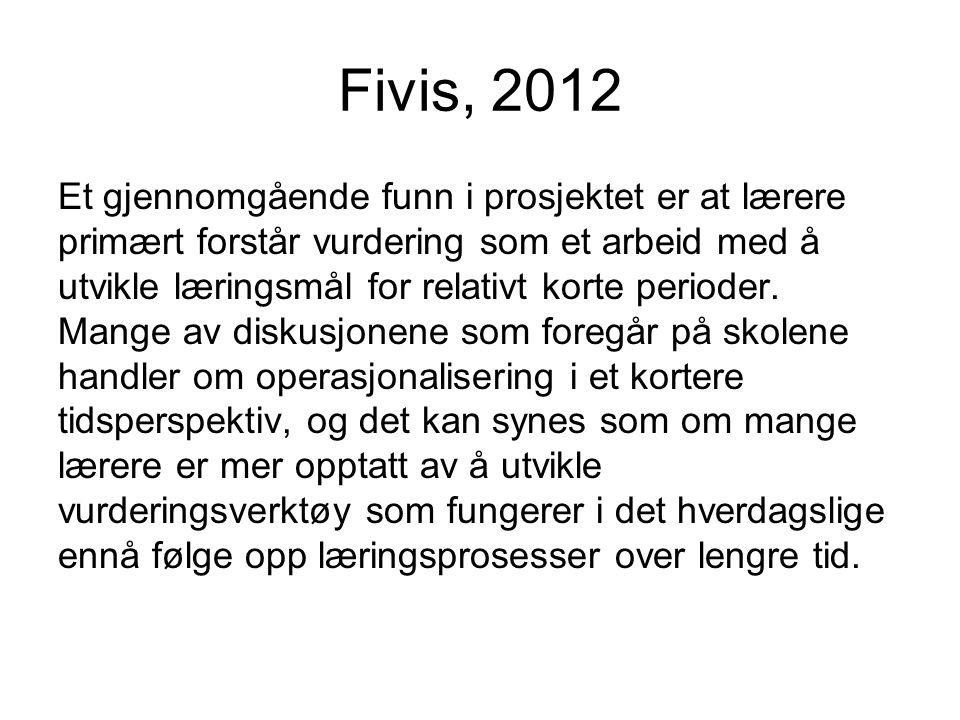Fivis, 2012