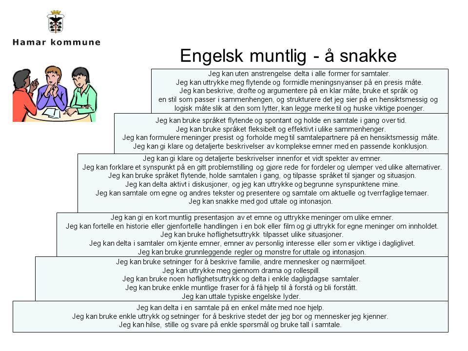Engelsk muntlig - å snakke