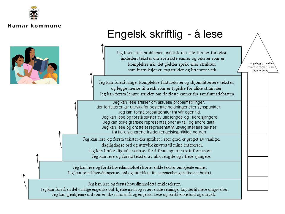 Engelsk skriftlig - å lese