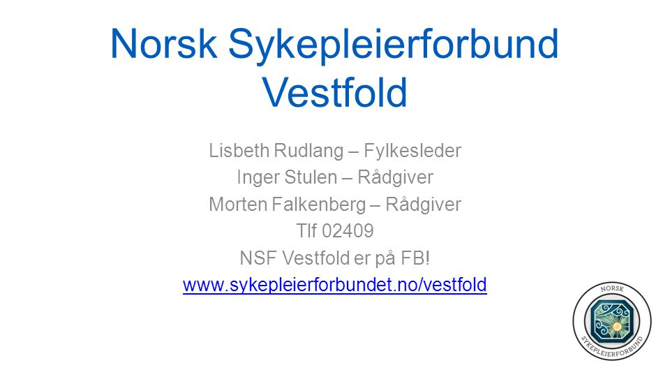 Norsk Sykepleierforbund Vestfold