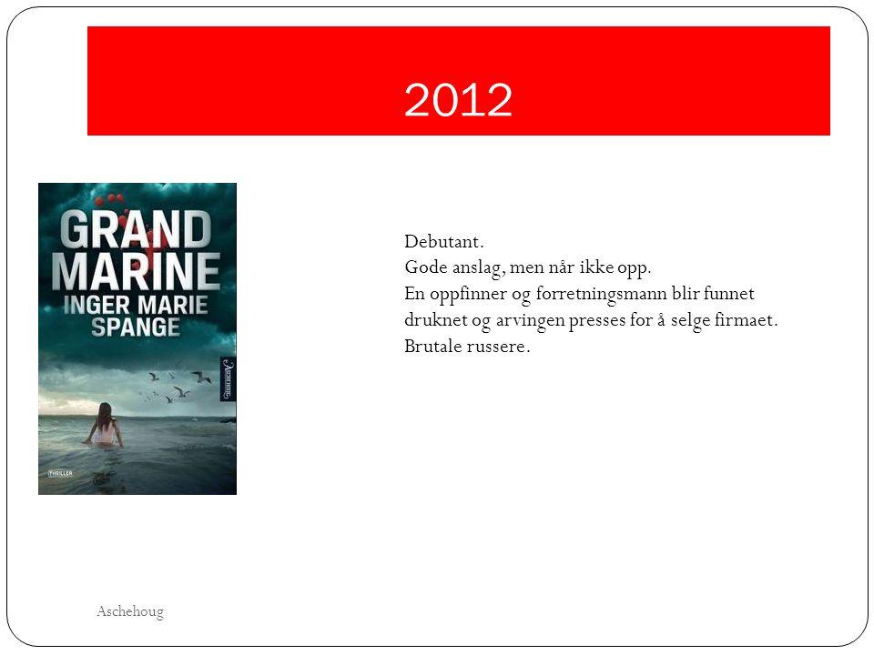 2012 Debutant. Gode anslag, men når ikke opp.