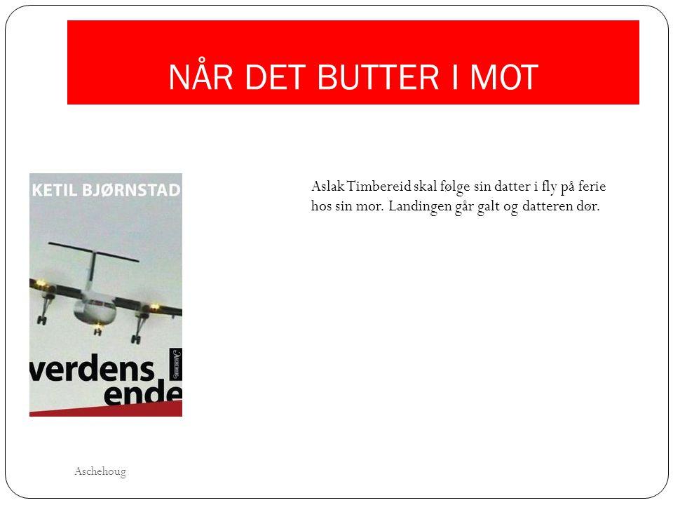 NÅR DET BUTTER I MOT Aslak Timbereid skal følge sin datter i fly på ferie hos sin mor. Landingen går galt og datteren dør.