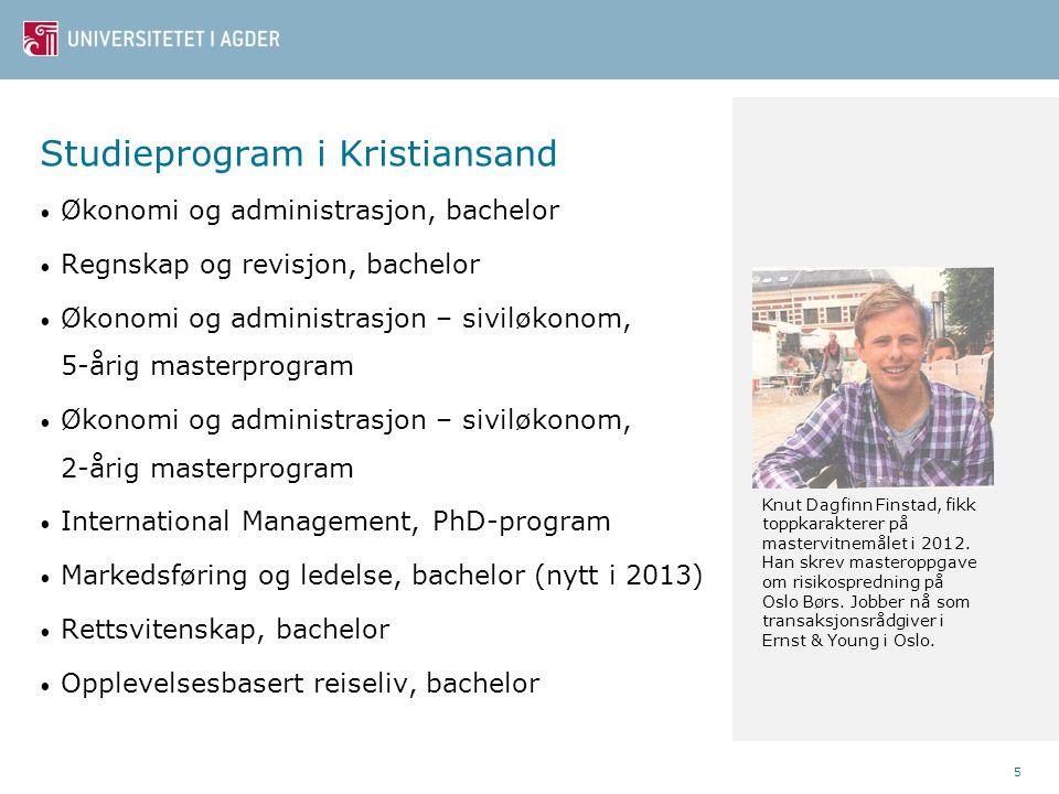 Studieprogram i Kristiansand