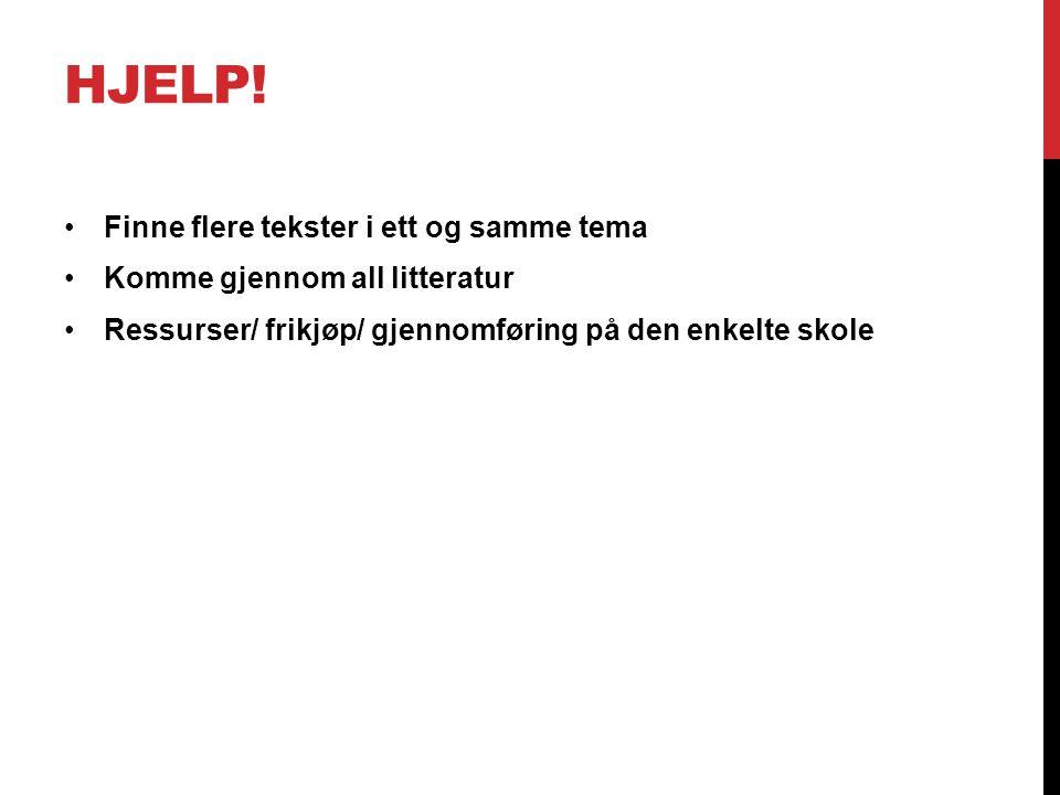 Hjelp! Finne flere tekster i ett og samme tema