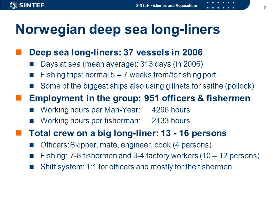 Norwegian deep sea long-liners